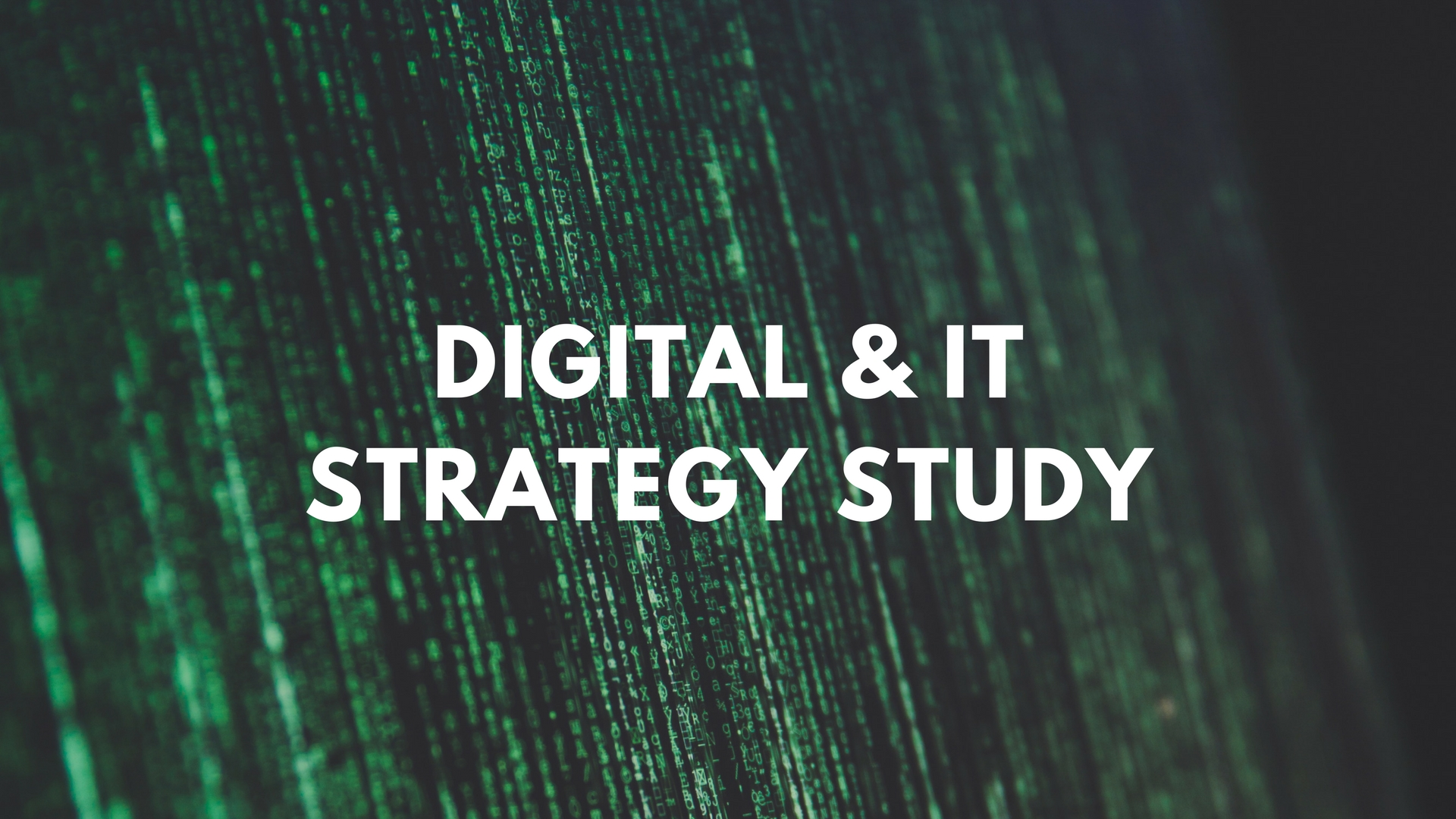 Poster for the Digital & IT Strategy Study program