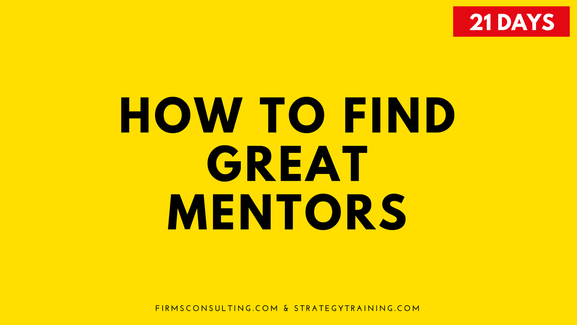 Poster for the program How to Find a Great Mentor