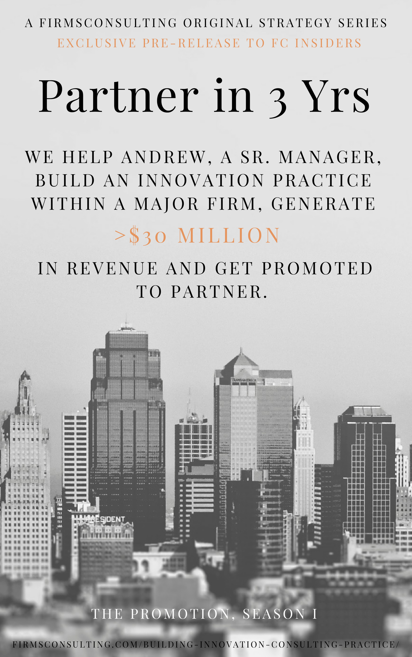 Poster for how to sell multimillion dollar consulting engagements